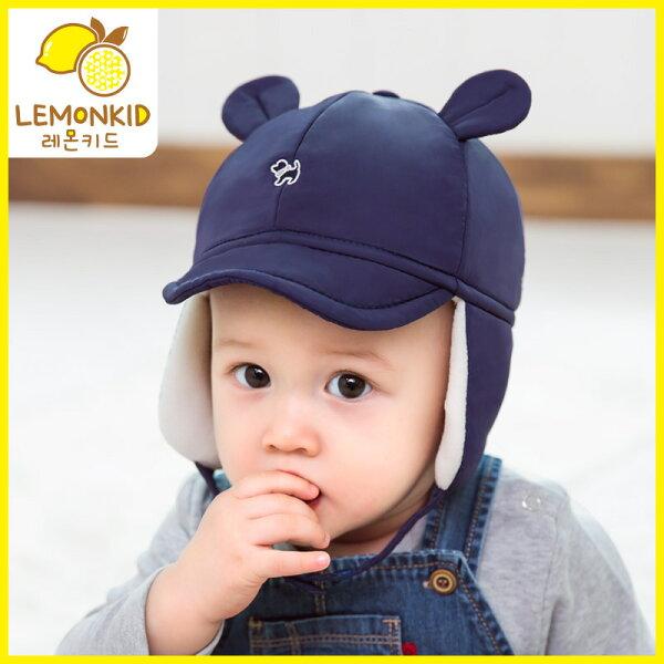Lemonkid:Lemonkid◆秋冬保暖立體耳俏皮狗狗護耳帽