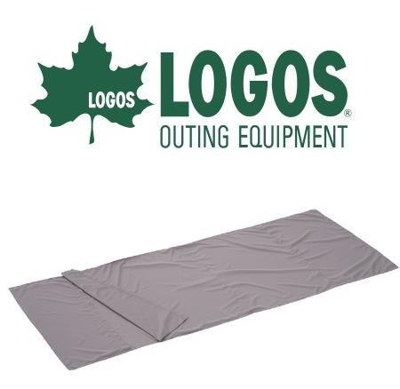【【蘋果戶外】】LOGOS LG7260323 日本品牌LOGOS 絲綢睡袋內套內裏 (炭灰) 毯子 戶外露營野營寢袋