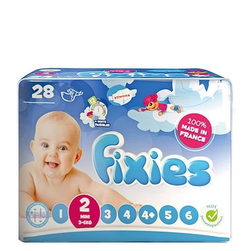 【奇買親子 網】Fixies 寶貝愛因斯坦嬰兒尿褲3-6kg S 28