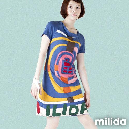 【Milida,全店七折免運】斜領休閒優質洋裝 4