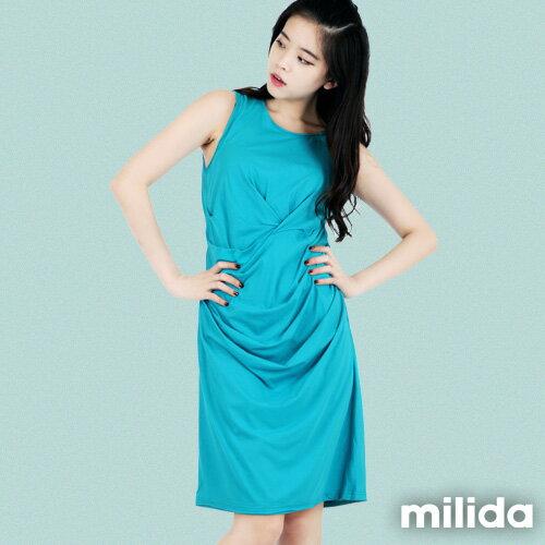 【Milida,全店七折免運】-夏季洋裝-無袖款-氣質長版洋裝 0