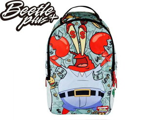 BEETLE PLUS SPRAYGROUND 超強功能 SPONGEBOB MONEY CRABS 後背包 海綿寶寶 蟹老闆 蟹堡王 鈔票 BACKPACK
