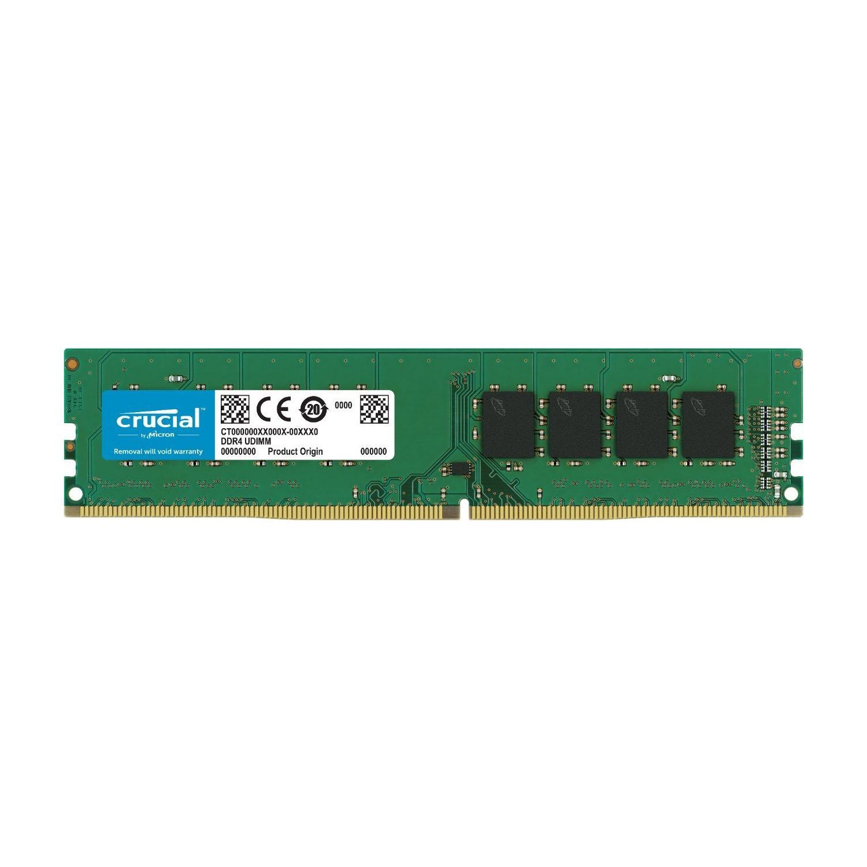 Crucial CT8G4DFS824A 8GB Single DDR4 2400 MT/s (PC4-19200) SR x8 DIMM 288-Pin Memory 0
