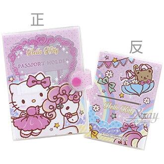 X射線【C932861】凱蒂貓Kitty 卡片套-1入粉,票夾/收納本/多功能卡片套/收集冊