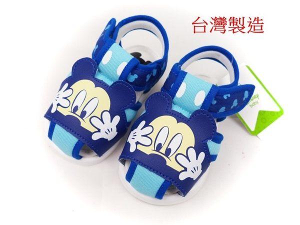EMMA商城~Disney迪士尼米奇護趾氣墊寶寶嗶嗶鞋.童鞋藍色13-15號