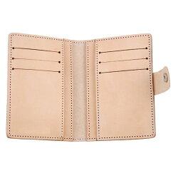證件夾  卡片夾   鬥牛士  牛皮中型證件夾 (原色/黑色)   6160 精緻禮盒包裝 二側各三個卡片袋