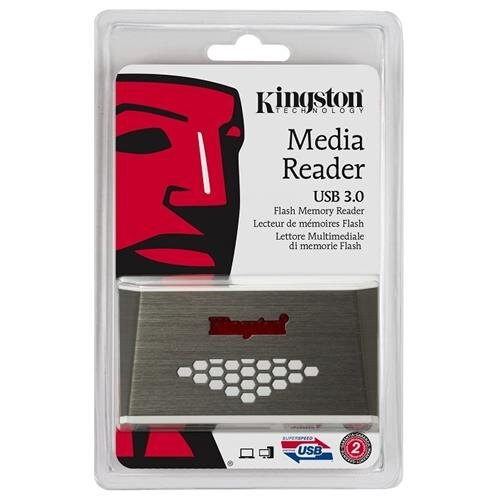 Kingston FCR-HS4 USB 3.0 External Media Flash Memory Card Reader fit 4GB 8GB 16GB 32GB 64GB 128GB Kingston SanDisk Samsung CF microSDHC microSDXC micro SD SDHC SDXC MS Pro Duo + OEM microUSB 2.0 OTG Converter 1