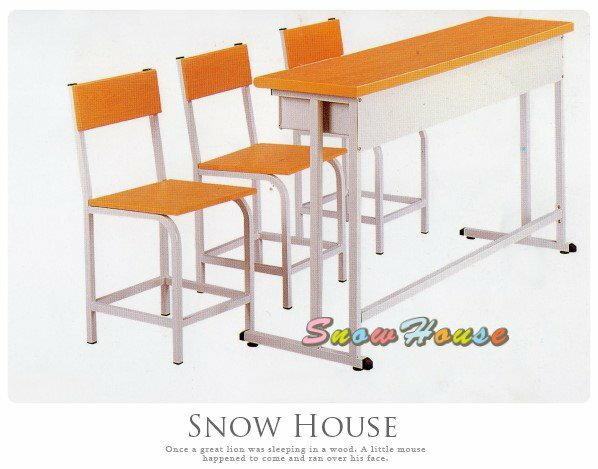 ╭☆雪之屋居家生活館☆╯三人課桌椅/補習班桌椅/書桌椅/安親班椅 大特價 木紋色