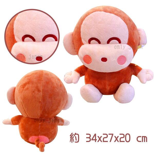【真愛日本】18091200014經典坐娃10吋-圓臉淘氣猴三麗鷗家族淘氣猴娃娃布偶居家擺飾禮物猴子