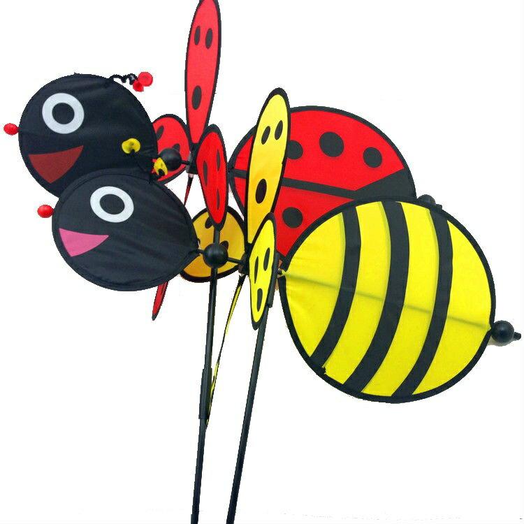 立體動物旋轉風車 / 瓢蟲風車 / 蜜蜂風車 / 裝飾品 / 不挑款 / A126