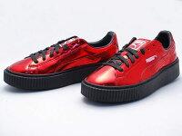 PUMA運動品牌推薦PUMA運動鞋/慢跑鞋/外套推薦到Puma rihanna 蕾哈娜款厚底板鞋 亮面紅色 40