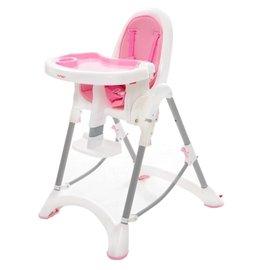 【淘氣寶寶】台灣製 myheart 折疊式兒童安全餐椅(蜜桃粉)【公司貨】【買就送一支美國 正品 Pura 不鏽鋼奶瓶/原價899元】