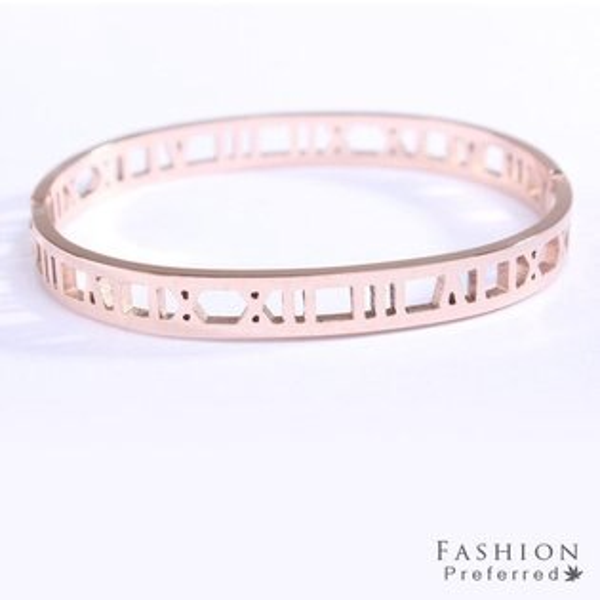 簡約羅馬數字造型手環【櫻桃飾品】【20785】