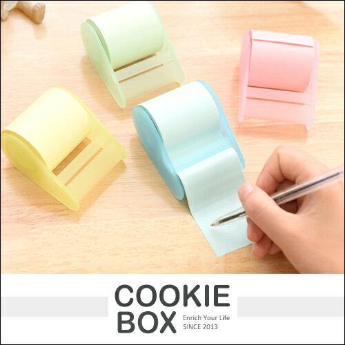 捲筒 便利貼 自由貼 便條紙 記事 辦公室 用品 文具 滾筒式 方便 *餅乾盒子*