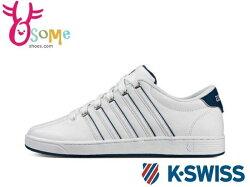 K-SWISS COURT PRO II 男款 休閒鞋 白鞋 運動鞋 記憶鞋墊 #白藍 C9910 ◆OSOME奧森鞋業