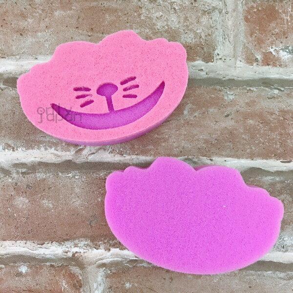 【真愛日本】18013000036二入造型雙層清潔海綿-妙妙貓愛麗絲夢遊仙境柴郡貓妙妙貓清潔海綿菜瓜布