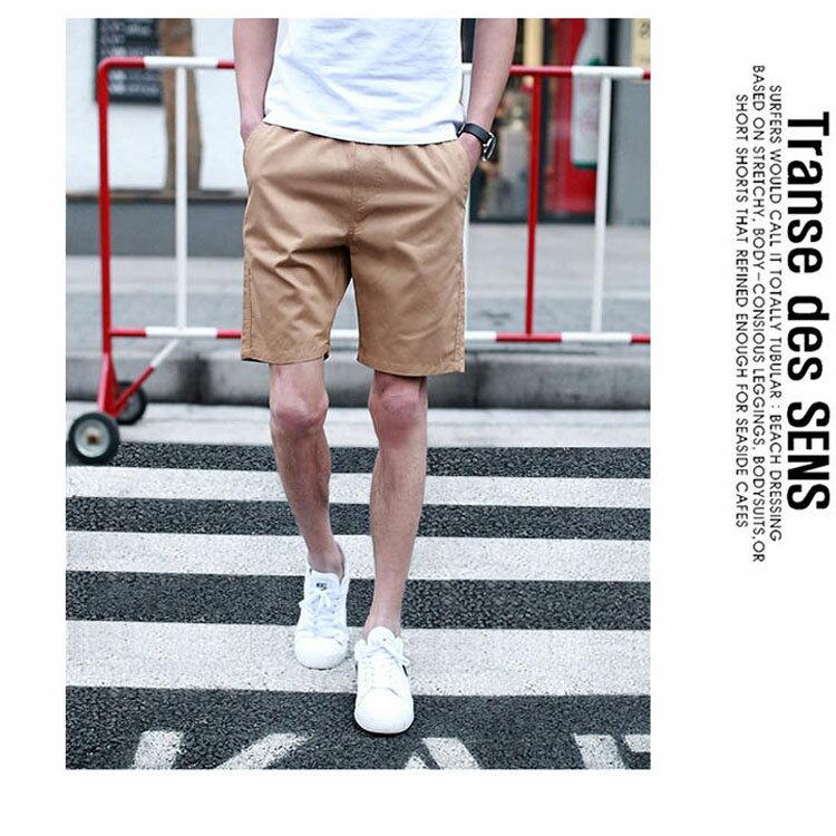 【專區任選2件$580】 最新款日系新品潮流經典純色休閒短褲 4