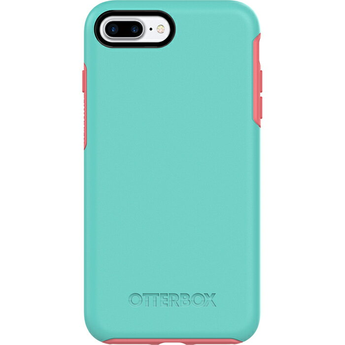 【貝殼】OtterBox Symmetry Series炫彩幾何 iPhone 8 Plus / iPhone 7 Plus 手機殼 防摔殼 - 綠粉
