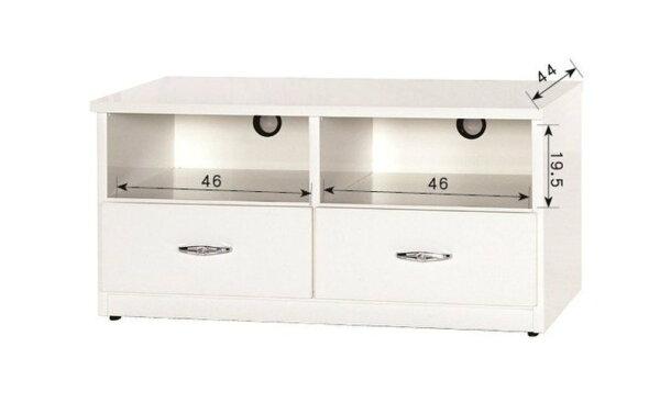 【石川家居】843-01(3.3尺白色)電視櫃(CT-212)#訂製預購款式#環保塑鋼P無毒防霉易清潔