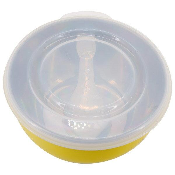 兒童附蓋隔熱碗(附湯匙) YE #304不鏽鋼 NITORI宜得利家居 2