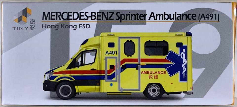 ☆勳寶玩具舖【現貨】TINY 微影 城市 159 賓士 Sprinter Facelift 消防處救護車 (A491)