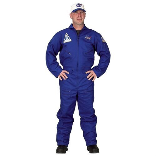 "Adult Flight Suit with Embroidered Cap Halloween Costume - Size: Large (5'8""-6'2"") 0"