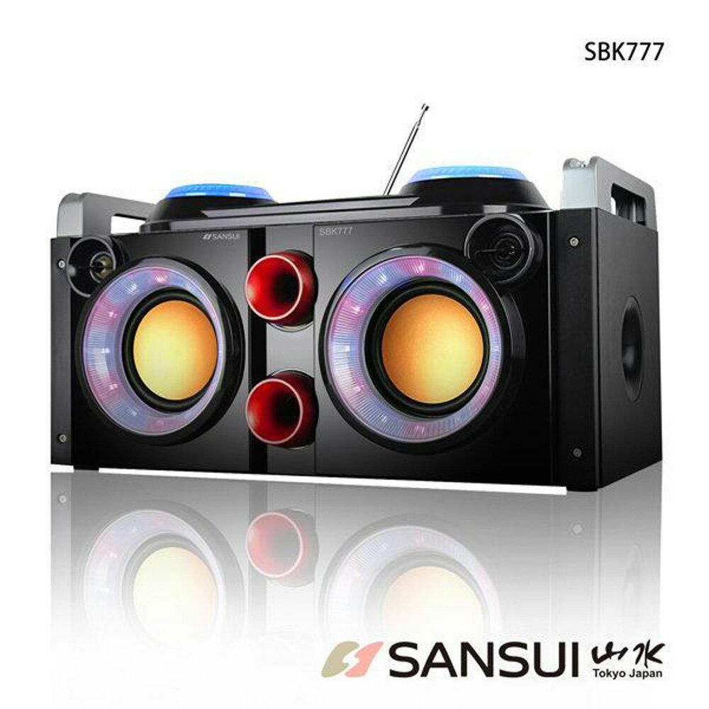 <br/><br/>  SANSUI 山水 音霸藍牙隨行卡啦OK播放器 SBK777<br/><br/>