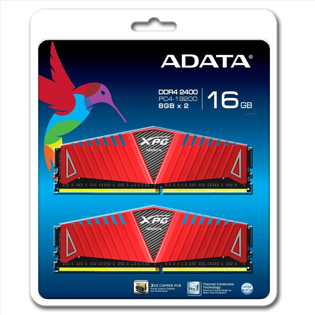 【新風尚潮流】威剛 XPG Z1 超頻 16GB DDR4-2400 終保 AX4U2400W8G16-DRZ
