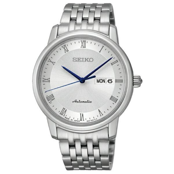 Seiko Presage 4R36-04E0S(SRP691J1)經典羅馬雙日曆機械腕錶/白面40mm