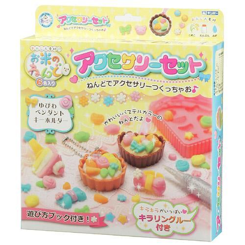 日本銀鳥 無毒米黏土 閃亮飾品組 可愛甜點飾品 玩具/黏土/美術/勞作 *夏日微風*