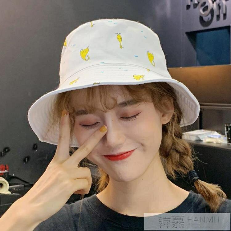 【618購物狂歡節】帽子女夏天韓版百搭日系漁夫帽遮陽防曬甜美可愛軟妹ins雙面時尚