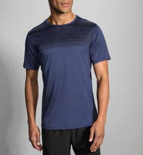 BROOKS(男)專利快乾輕量吸濕排汗短袖T恤BK211056484(深藍)[陽光樂活]