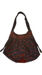 尼泊爾製 時尚風情圖案 手提/肩背 兩用包【尼泊爾 手藝坊】Nepalese made, stylish Nepalese pattern hand cum shoulder bag
