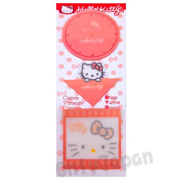 【真愛日本】14041700046便條貼-MYKT圓紅三麗鷗凱蒂貓KITTY便條紙便利貼文具紙製品