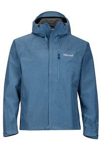 【【蘋果戶外】】Marmot31020-3967灰藍色美國男KnifeEdgePacliteGORE-TEX土撥鼠防水外套GTX防風外套風衣雨衣風雨衣