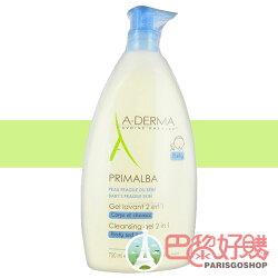 A-Derma 艾芙美 燕麥新葉寶貝洗髮沐浴精 750 ML 二合一 新加量版
