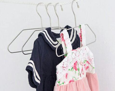 衣架/衣夾 不鏽鋼兒童衣架12入 完美主義 【H0021】