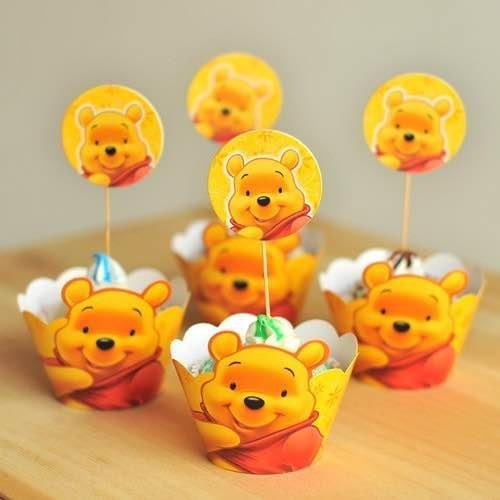 =優生活=烘焙包裝紙杯蛋糕 蛋糕裝飾 插牌圍邊+插牌裝飾 派對用品 兒童生日 彌月蛋糕 收綖蛋糕【維尼】