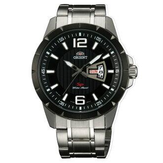 Orient 東方錶(FUG1X001B)運動風石英腕錶/黑面43mm