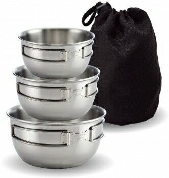 【露營趣】中和 文樑 不銹鋼碗三件式 304材質 登山 露營 野餐 個人餐具 ST-2020-2