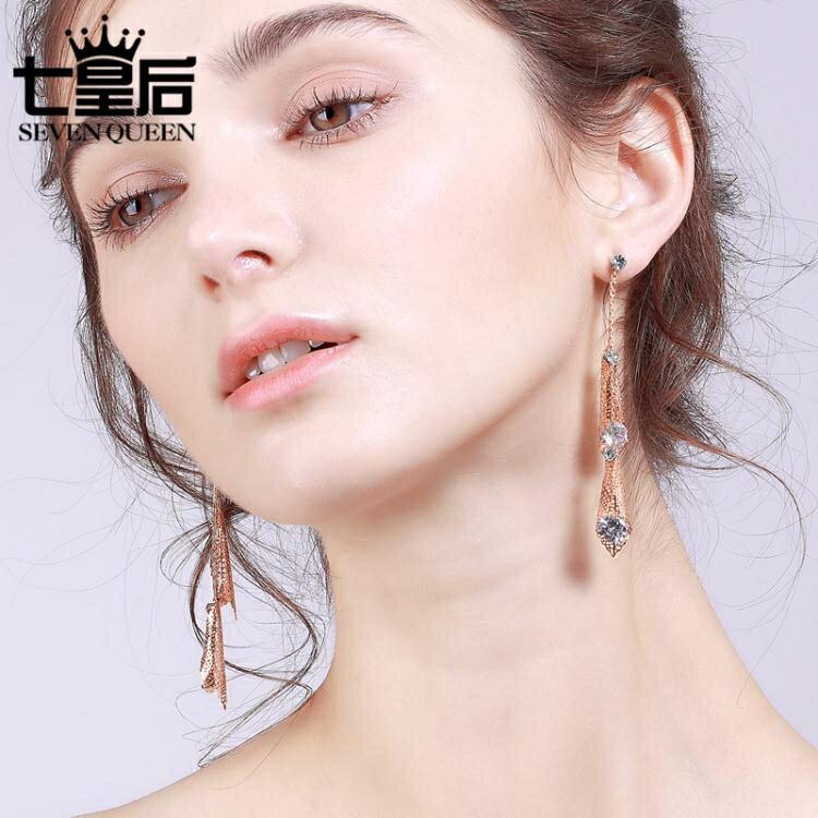 顯臉瘦的耳環女耳夾簡約長款吊墜個性潮人耳墜大氣質