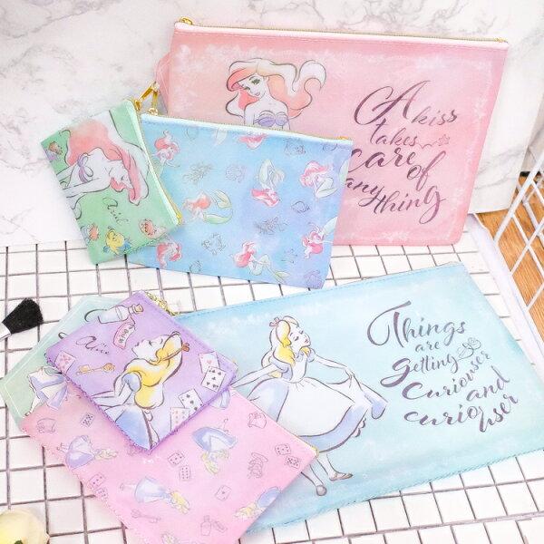 PGS7日本迪士尼系列商品-日貨迪士尼拉鍊袋三件組文件袋愛麗絲愛麗兒【SIJ71273】