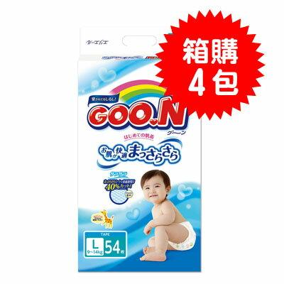 【悅兒樂婦幼用品?】GOO.N 日本大王 頂級境內版紙尿褲L (54片x4包)【產地日本】
