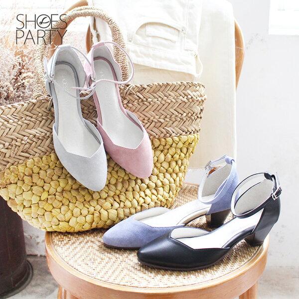 【S2-18420L】氣質中空繫帶真皮跟鞋_ShoesParty