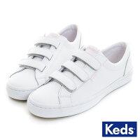 【KEDS 促銷85折粉紅限定款】【版型較窄,建議拿大半號】Keds 時尚運動魔鬼氈皮質休閒鞋-粉紅限定款-昂路名鞋館-流行女裝