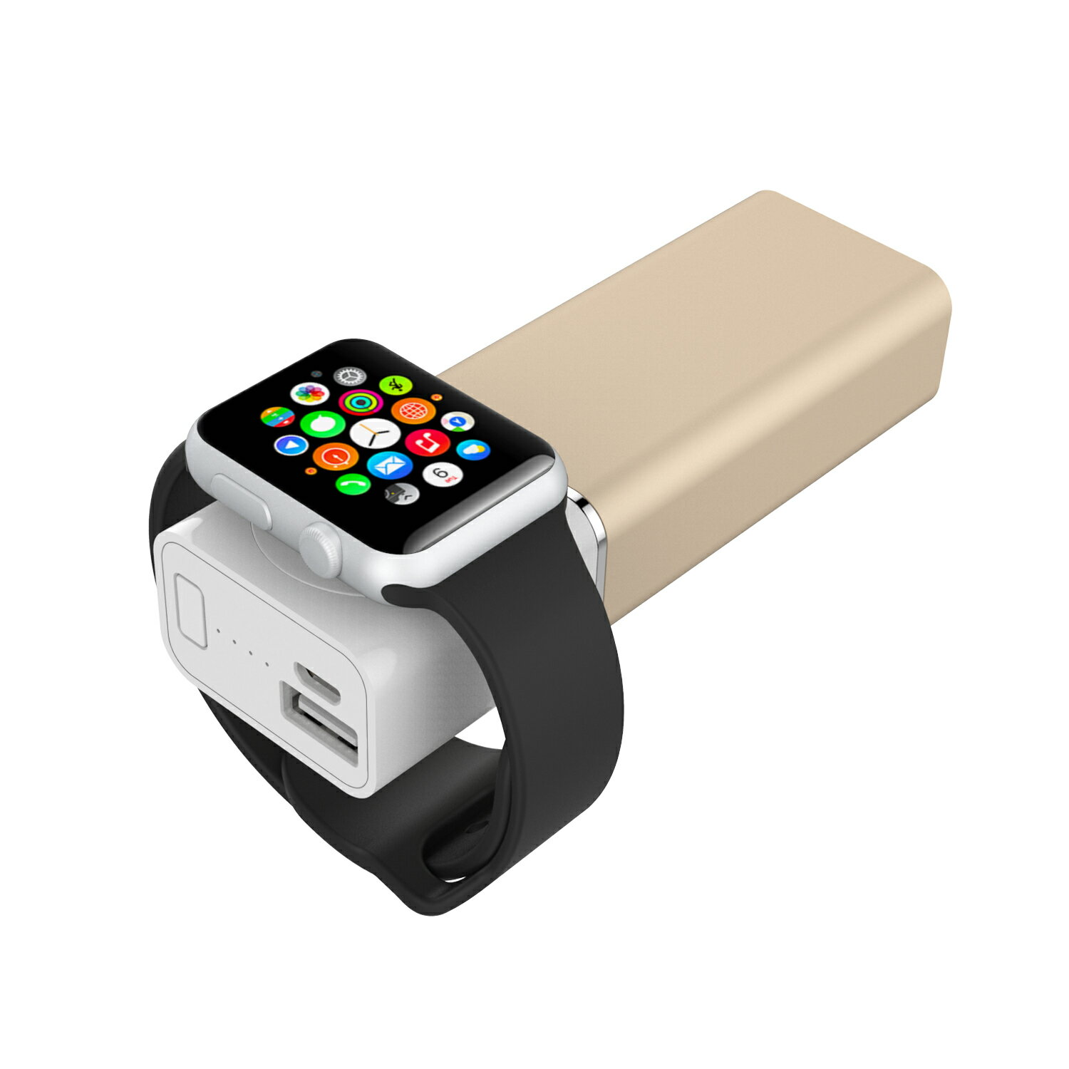 Element Works Dual USB Portable Charger And External Battery Pack for Apple Watch, iPhone, and Other Smartphones-Apple MFI Certified 8