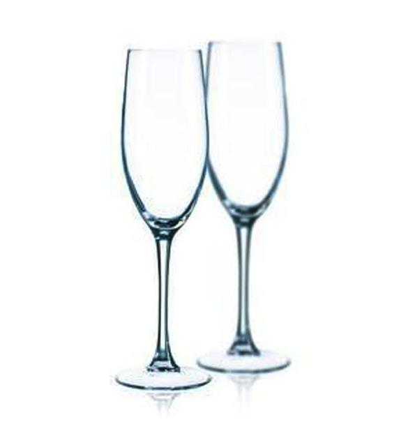 鋼化玻璃笛形香檳杯高腳杯玻璃杯雞尾酒酒杯創意家居酒具酒杯杯子1入