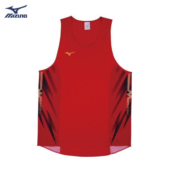 U2TA8A0362(紅)超輕量柔軟高透氣吸汗快乾RUNNING男田徑背心【美津濃MIZUNO】