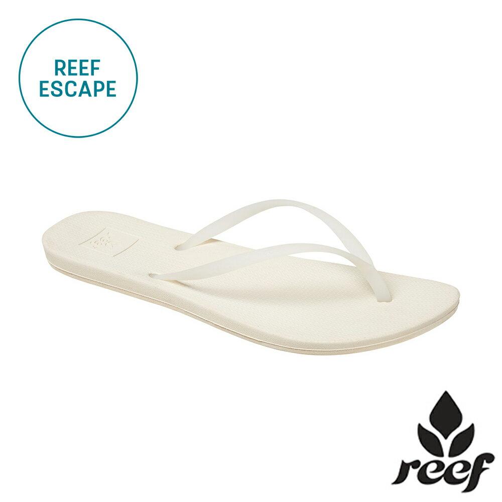 """【79 折優惠↘】REEF ESCAPE 科技防滑耐磨舒適好穿基本款橡膠人字拖 夾腳拖鞋2.0 . 白《全店滿 $ 700 輸入""""loveyou-beauty """" 現折100》"""