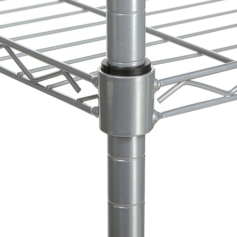 5-Shelf Wire Shelving Rack Shelves with Wheels 14 x 29 x 61inch 2